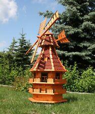 XXL Windmühlen 1,50 m groß mit Solarbeleuchtung weiß oder bunt Typ 14.1