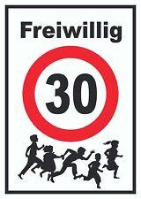 Freiwillig 30 Schild Spielende Kinder
