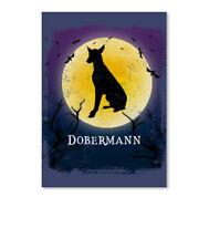 Dobermann Pinscher Dog Halloween Sticker - Portrait