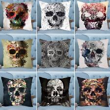 Abstract Skull Throw Pillow Case Cushion Cover Home Car Sofa Halloween Decor