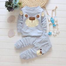 2PC Set Baby Boys Kids Shirt Tops+ Long Pants Clothes Outfits Gentleman