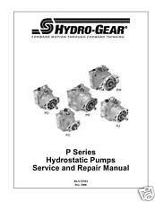 Hydro Gear P Series Hydrostatic Pumps Repair Manual