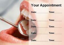 Dentiste Dentaire orthodontiste blanchiment des dents cartes de rendez-vous personnalisé