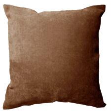 Ma24a Light Brown Velvet Style Cotton Blend Cushion Cover/Pillow Case Custom