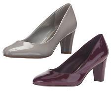 Ralph Lauren Womens Hala Stone Claret Leather Closed Toe Women Shoes Pump