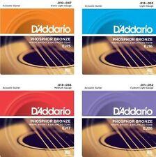 3 sets D'Addario EJ Phosphor bronze acoustic guitare strings EJ15 EJ16 EJ17 EJ26