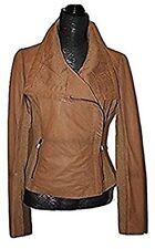Bod & Christensen Women's Rebecca Leather Jacket Tan Mult Sizes