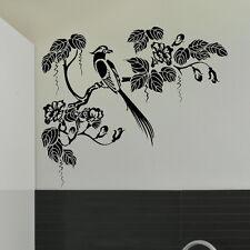Oriental Style Tree & Bird Wall Sticker Decal Art Transfer Graphic Stencil x37