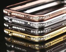 Strass Aluminium Luxus Bumper Rahmen Hülle Schutzhülle Handy Cover Case Folie