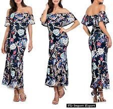 Vestito Lungo Donna Fantasia Floreale Woman Maxi Dress Floral Print 110267