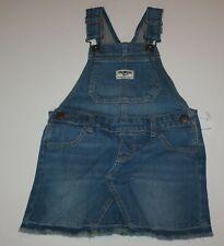 New OshKosh Girls Bib Overalls Denim Blue Jean Jumper...