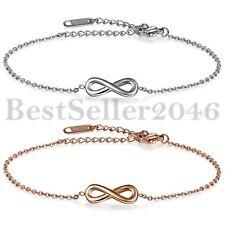 Bracelet de Main Cheville Femme Amour Infini Chaîne de Main Cheville Acier Inoxy
