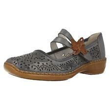 FEMMES RIEKER 41372 bleu clair cuir babies chaussures