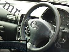 Para Peugeot 206 De Cuero volante cubierta Azul St