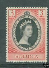 St Lucia Coronation 1953 mnh