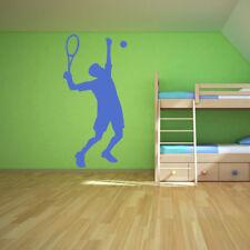 Tennis Player Wall Sticker High Serve Tennis Wall Decal Kids School Sports Decor