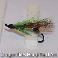 Green Highlander  Salmon Fly Fishing  Flies single hook by Dragonflies