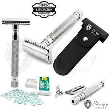 Mens Traditional Vintage Double Edge Safety Razor Gift Set + 10 Shaving Blades