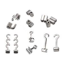 10 Pcs Dental Orthodontic Crimpable Hooks Sliding/Spiral Cross/Double Tube Stops