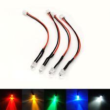 5pcs 3mm Pre-Wired LEDs Bulb With PH2.0-2P Connector 3V 6V 9V 12V 24V 36V~220V
