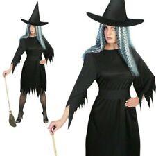Erwachsene Gruselige Hexe Damenkostüm Halloween Kostüm Schwarz S-L