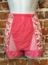 Rhonda Shear Pink Floral Mesh Dot Pin-Up Retro High Waist Panties New