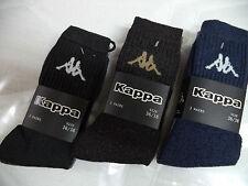 3 PAIRS SOCKS - SOCKS SHORT. UNISEX. KAPPA. SPONGE. K570. BLUE BLACK DARK BROWN