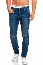 Maddu señores Jeans Hose azul cut destroyed Clubwear slim & Skinny fit 223 nuevo