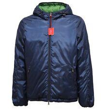 4707R giubbotto uomo ALTEA DOUBLE FACE blu verde jacket men