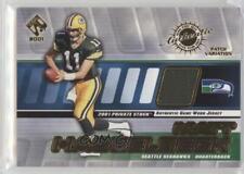 2001 Private Stock Game-Worn Gear Patch Memorabilia #130 Matt Hasselbeck Card