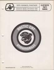 1974 ARCTIC CAT SNOWMOBILE WANKEL PANTHER PARTS MANUAL