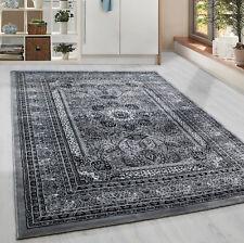 Klassiker Orient  Design Teppich Bordüre  Grau Meliert Wohnzimmer 6 Groessen