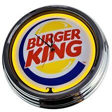 """N-0273 Wanduhr """"Burger King"""" Deko Neonuhr Esszimmer Küche Wohnzimmer Büro Uhr"""