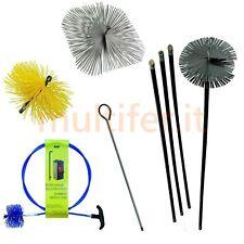 Spazzole per la pulizia di tubi e canne fumarie - kit spazzacamino - scovoli