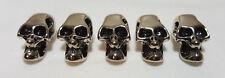 6mm metal Silver / Gunmetal skull beads for paracord lanyards Get back Bracelets
