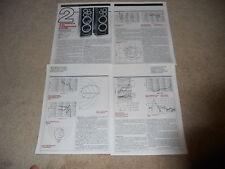 Wharfedale E-90 Speaker Review, 4 pg, 1981, Full Test