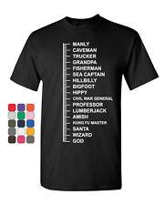 Beard Length Measuring T-Shirt Funny Beard Ruler Tee Shirt