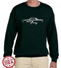 1964 Plymouth Fury Hardtop Classic Car Outline Design Sweatshirt NEW