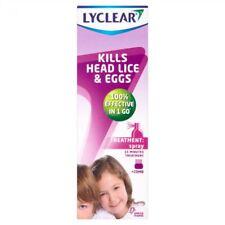 Lyclear Treatment + Comb Spray Kills Head Lice & Eggs 100ml 1 2 3 6 12 Packs