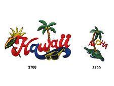 HAWAII ALOHA Palm Tree Sunshine Embroidery Iron On Appliqué Patch/PC