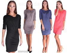 Kleid Mini-Kleid Elegant in 6 Farben Gr. XS S M L XL XXL 3XL, 6407