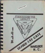 1978 U. S. NAVY FLEET RESERVE ASSOCIATION COOKBOOK, BRANCH 141, HAVELOCK, NC
