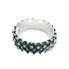 Fede sarda anello Sardegna filigrana fascia 2 file giri argento brunito 925