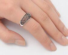 Sterling Silver .925   Filigree Art Deco  Modern Ring Sizes 5-11