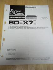 Pioneer Service Manual~SD-X7 TV Sound Tuner Pack~Original~Repair