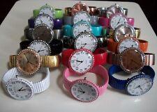 Women's Rhinestone Candy Colors Stretch Band Good For Nurse Fashion Wrist Watch