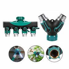 """3/4"""" 2/4 Way Garden Water Tap Adapte Valve Splitter Hose Pipe Tap Connector"""
