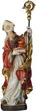 STATUA Sant' AGOSTINO CON SACRO CUORE IN LEGNO. St. AUGUSTINE WITH SACRED HEART