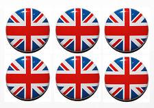 6 x Small Circle Flag Magnets UK, England, Ireland, Scotland & Wales