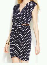 NEW MICHAEL Michael Kors Polka-Dot Faux-Wrap Dress Size Large, XLarge